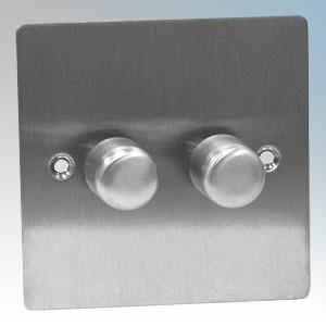 Zano ZSP252SS Stainless Steel 2 Gang Slimline LED Dimmer Switch 250W 240V