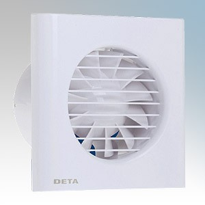 Deta 4601 (pack of 4) White Wall / Ceiling Axial Extractor Fan With Adjustable Timer 100mm / 4 Inch 240V