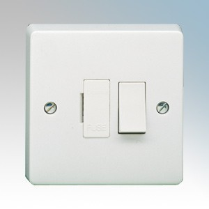 Crabtree 4827 Capital White Moulded DP Switched Fused Connection Unit 13A