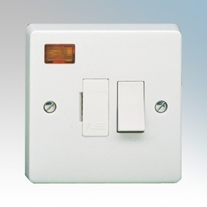 Crabtree 4827/3 Capital White Moulded DP Switched Fused Connection Unit With Neon 13A