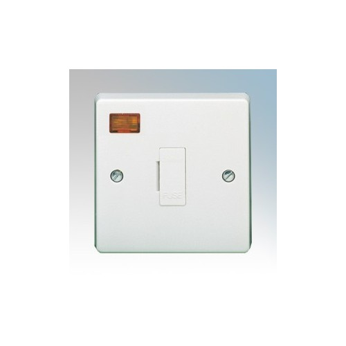 Crabtree 4828/3 Capital White Moulded Unswitched Fused Connection Unit With Neon 13A
