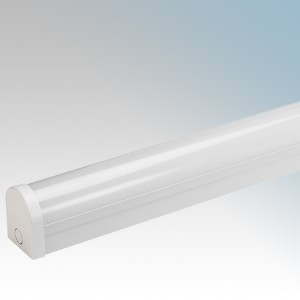 Bell Lighting 10200 Ultra White 4 Foot Single Integrated LED Batten With Opal Diffuser & Cool White LEDs IP20 20W 2500Lm 240V Length: 1230mm - Width: 69mm - Depth: 82mm