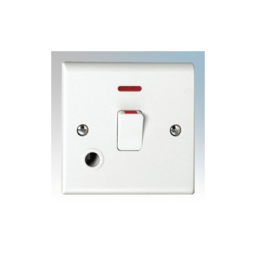 Deta S1393 Slimline White Moulded Double Pole Switch With