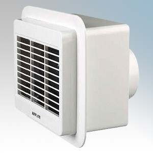 "Airflow 01 Loovent TM White Centrifugal Toilet / Bathroom Fan With Adjustable Timer 100mm / 4"" 240V"