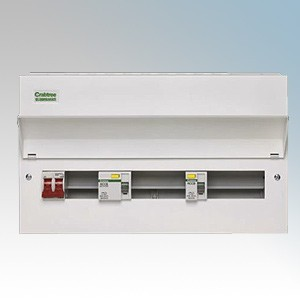 10 RCBOS STARBREAKER CRABTREE METAL CONSUMER UNIT AMEND 3 10 WAY WITH 100a ISO