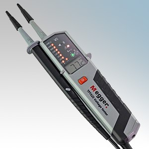 Megger TPT420 Voltage & Continuity Tester With Visual and Acoustic Indication, LED / LCD Display, Torch & 2x GS38 Tips IP64 12V to 1000V AC / 12V to 1500V DC