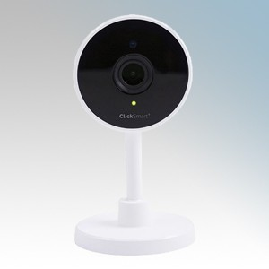 Scolmore Click CSP020 Smart + White Smart Camera 1080p Resolution | 7 Metre Night Vision | Microphone & Speaker Height: 116mm - Width: 34mm - Depth: 58mm