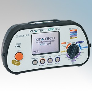 Kewtech KT63PLUS 6-in-1 Advanced Commercial Multi Function Tester With Large Colour Screen & Phase Rotation