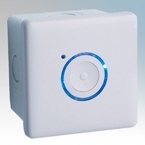 Elkay Energyoutdoor White 2 Wire Pushbutton Timer With Surface Mounted Back Box IP66 16A 240V