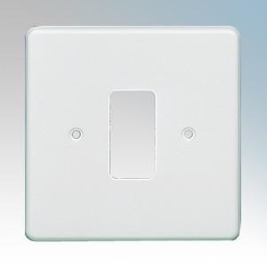 Crabtree 5571 Rockergrid White 1 Module Frontplate 86mm x 86mm
