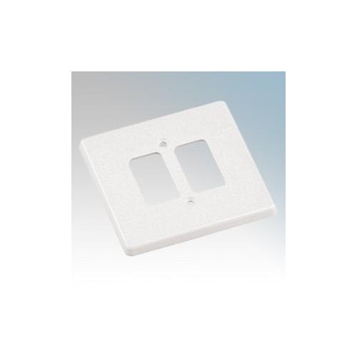 Crabtree 5572 Rockergrid White 2 Module Frontplate 86mm x 86mm