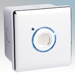 Elkay Energyoutdoor White 2 Wire Touch Timer With Surface Mounted Back Box IP66 16A 240V