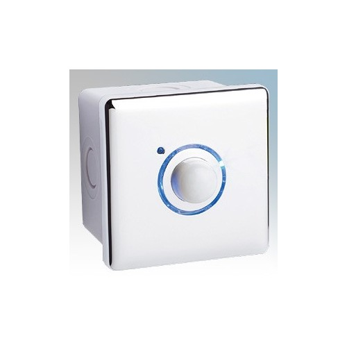 Elkay Energyoutdoor White 3 Wire PIR Timer With Surface Mounted Back Box IP66 16A 240V
