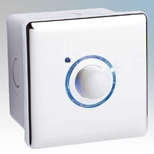 Elkay Energyoutdoor White 2 Wire PIR Timer With Surface Mounted Back Box IP66 16A 240V