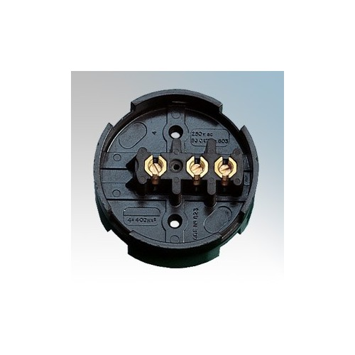 BG Electrical 603 Brown 3 Terminal Junction Box With Selective Entry 30A 89mm 3½ Inches