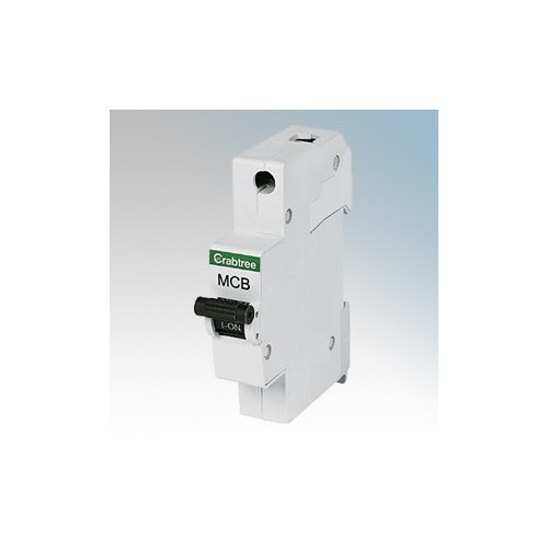Crabtree 61/B06 Starbreaker 1 Module Single Pole Type B Miniature Circuit Breaker MCB 6A 6kA
