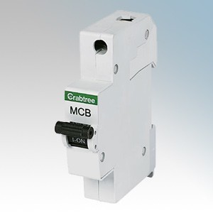 Crabtree 61/B40 Starbreaker 1 Module Single Pole Type B Miniature Circuit Breaker MCB 40A 6kA