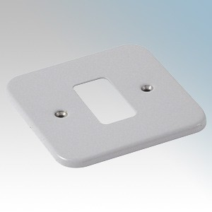 Crabtree 6581/BG Rockergrid Metalclad 1 Module Frontplate 77mm x 77mm