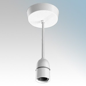 BG Electrical 669 White T2 Rated 9 inch Pendant Set With 661 Ceiling Rose & 720H Lampholder