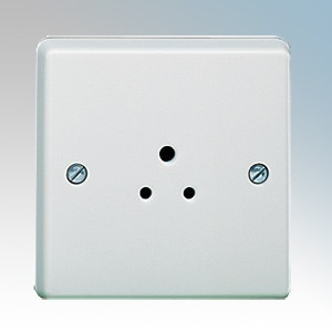 Crabtree 7046 Capital White Moulded 1 Gang Unswitched Shuttered Round Pin Socket 2A