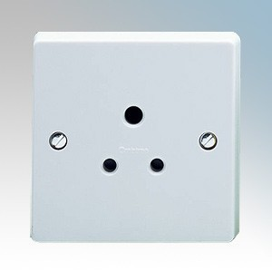 Crabtree 7047 Capital White Moulded 1 Gang Unswitched Shuttered Round Pin Socket 5A