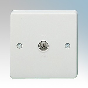 Crabtree 7267 Capital White Moulded Single Isolated Co-Axial Socket