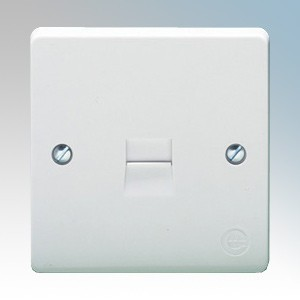 Crabtree 7283 Capital White Moulded Single BT Master Telephone Socket