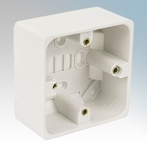 Crabtree 9041 Capital White Moulded 1 Gang Surface Mounting Box 44mm