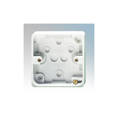 Crabtree 9043 Capital White Moulded 1 Gang Surface Mounting Box 20mm