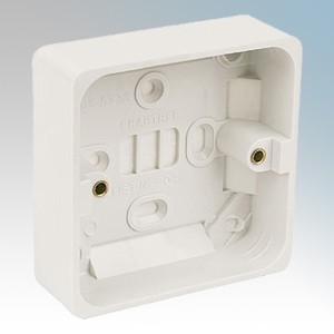 Crabtree 9047 Capital White Moulded 1 Gang Surface Mounting Box 29mm