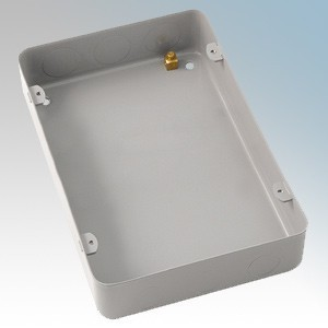 Crabtree 9209/BG Rockergrid Steel Gridswitch Mounting Box With Knockouts For 9 & 12 Module Grids 133mm x 194mm x 40mm