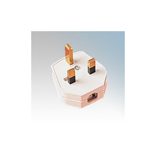 Shop4-Electrical A03 White 13A 3-Pin Plug With 3A Fuse
