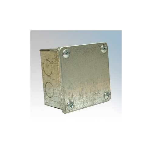 CED AB332G Galvanised Adaptable Box With Knockouts 75mm x 75mm x 50mm
