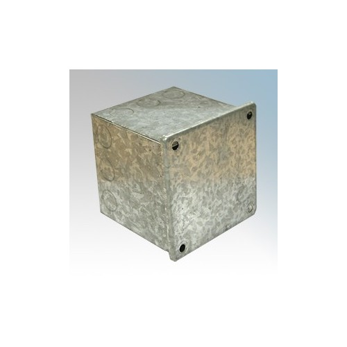 CED AB333G Galvanised Adaptable Box With Knockouts 75mm x 75mm x 75mm