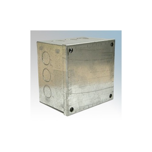 CED AB443G Galvanised Adaptable Box With Knockouts 100mm x 100mm x 75mm