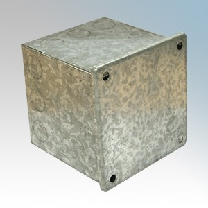CED AB444G Galvanised Adaptable Box With Knockouts 100mm x 100mm x 100mm