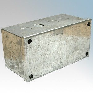 CED AB633G Galvanised Adaptable Box With Knockouts 150mm x 75mm x 75mm