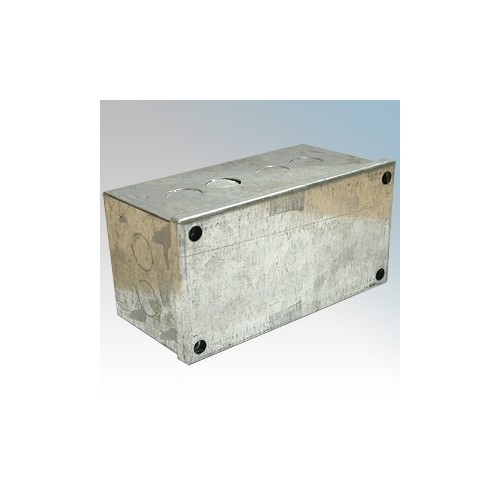 CED AB662G Galvanised Adaptable Box With Knockouts 150mm x 150mm x 50mm