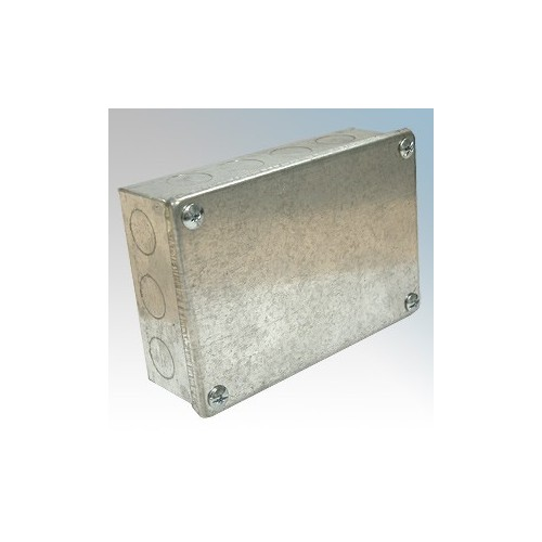CED AB664G Galvanised Adaptable Box With Knockouts 150mm x 150mm x 100mm
