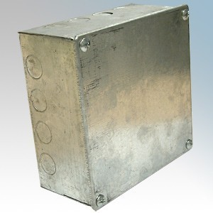 CED AB993G Galvanised Adaptable Box With Knockouts 225mm x 225mm x 75mm