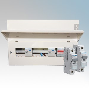 Hager AM3-HAGERKIT Amendment3 Consumer Unit Kit With  VML955RK 5+5 Way All Metal Consumer Unit & 10 MCBs Of Choice
