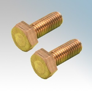 089-187-020 Brass Hexagon Head Set Bolts M6 x 25mm ( Pack Size 100 )