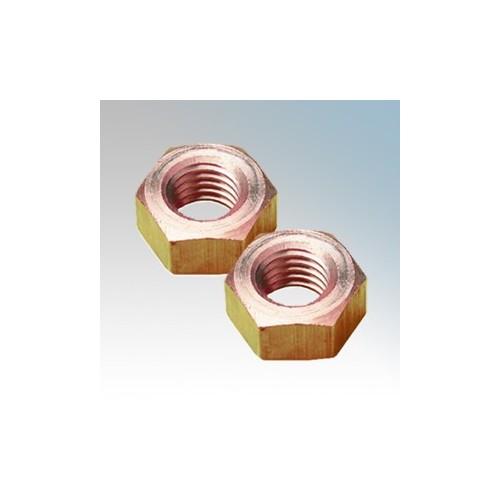 089-188-015 Brass Hexagonal Full Nuts M10 ( Pack Size 100 )