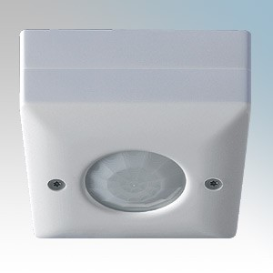 Danlers White Surface Mounted Ceiling Plug-In 360° Passive Infra Red PIR Switch With 10 Seconds To 40 Minute Time Lag Range 6A 240V