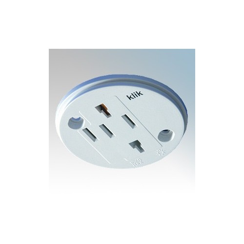 Danlers CESO White Round Ceiling Socket For Plug-In Ceiling Controls Ø: 74mm x D: 13mm