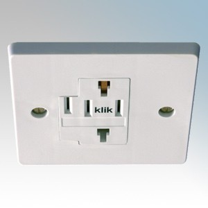 Danlers White Square Ceiling Socket For Plug-In Ceiling Controls L: 87mm x W: 87mm x D: 13mm