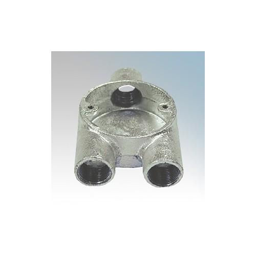 CF20Y/G Galvanised Steel Circular Branch Y Box (3 Way) 20mm