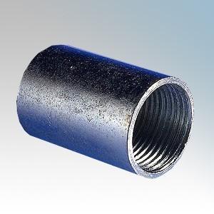 CF25CG Galvanised Steel Straight Solid Coupler 25mm
