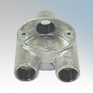 CF25Y/G Galvanised Steel Circular Branch Y Box (3 Way) 25mm