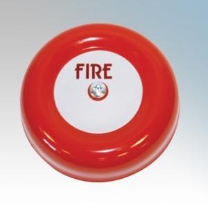 Channel Safety CHBL/6/2 Red Internal Bell 6 Inch IP42 92dB(A) 18V - 28Vdc
